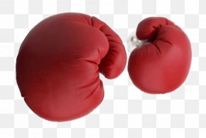 Big Red Boxing Gloves - Boxing Glove Knockout PNG