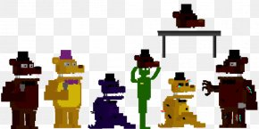 Five Nights At Freddy's Minecraft Pixel Art - Five Nights At Freddy's 4 Five Nights At Freddy's 2 Minecraft Chuck E. Cheese's Fredbear's Family Diner PNG