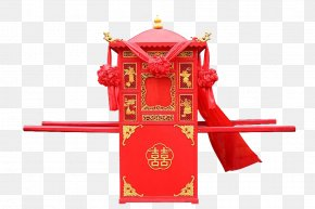 Big Red Sedan Chair - China Litter U559cu8f4e Tradition Chinese Marriage PNG