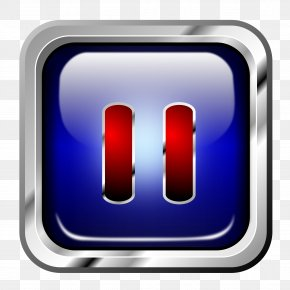 Icon Blue Multimedia Pause - Button Electrical Switches Clip Art PNG