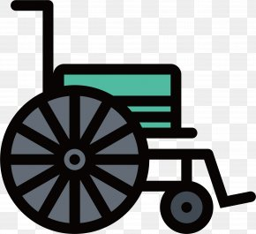 Blue Wheelchair - Stende ICO Icon PNG
