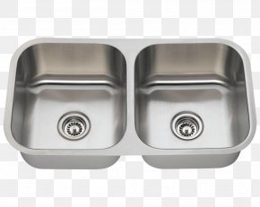 Sink - Kitchen Sink Kitchen Sink Stainless Steel Brushed Metal PNG