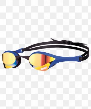 Swimming Goggles - Goggles Swimming Blue Mirror Arena PNG