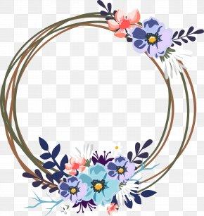 Vector Wedding Decorative Garland - Wedding Invitation Clip Art PNG