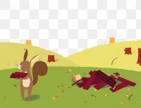 Moving Bricks Rabbit In The Grass - Brick Wall PNG