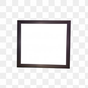 Product Black Frame Flat Panel Lamp - Window Picture Frame Area Pattern PNG