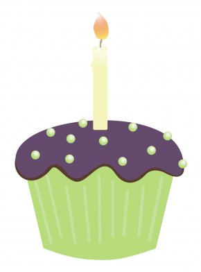 Cupcake Candle Cliparts - Cupcake Birthday Cake Muffin Candle Clip Art PNG