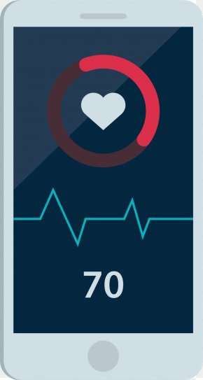 Smartphone Heartbeat Test - Heart Rate Electrocardiography PNG