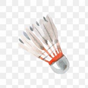 Grey Badminton - Badminton Watercolor Painting Adobe Illustrator PNG