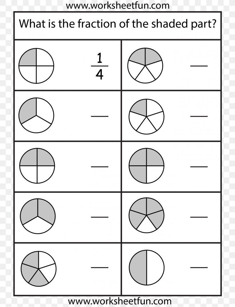 - Subtracting Fractions Worksheet Second Grade Education, PNG