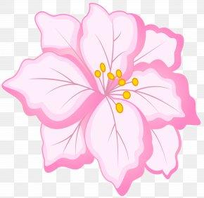 White Pink Flower Clip Art Image - Flower Clip Art PNG