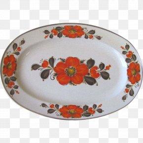 Plate - Plate Retro Vegas Platter Ceramic Tableware PNG