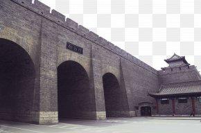 Three Gates - Fortifications Of Xian City Wall Of Nanjing Building U6210u90fd Defensive Wall PNG
