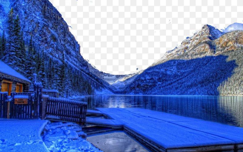 Banff Lake Louise Moraine Lake Winter Wallpaper Png