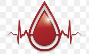 Vector Hand-painted Drops Of Blood Heartbeat - Blood Donation Blood Bank PNG