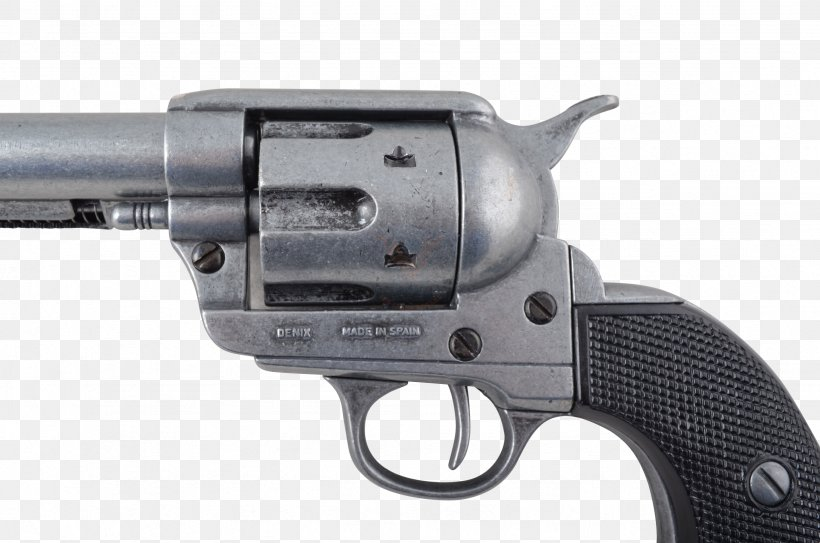 Revolver Firearm Colt Single Action Army American Frontier Weapon, PNG, 2464x1632px, 45 Colt, Revolver, Air Gun, American Frontier, Colt Single Action Army Download Free