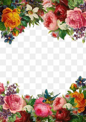 Beautiful Flowers Border - Flower Pixabay Clip Art PNG