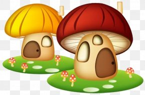 Small Mushroom House Cartoon - Cartoon Comics Drawing PNG