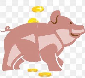 Vector Piggy Bank - Domestic Pig Piggy Bank Clip Art PNG
