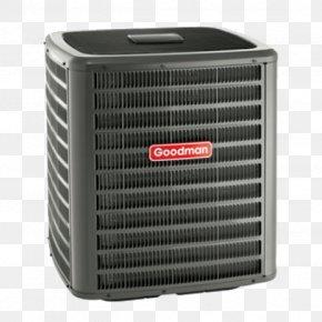 Hvac - Heat Pump Goodman Manufacturing Air Conditioning Seasonal Energy Efficiency Ratio HVAC PNG