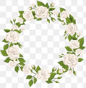 Roses Border White Clip Art - Rose White Clip Art PNG