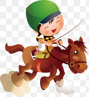 Crazy Youth Activities - Horse Equestrianism Illustration PNG