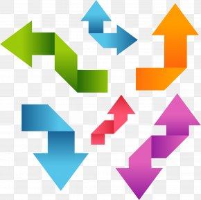 Vector Hand Colored Arrows - Paper Euclidean Vector Color Icon PNG