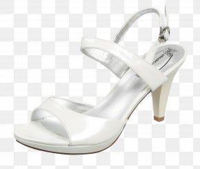 White One With High-heeled Sandals - Sandal High-heeled Footwear Designer PNG