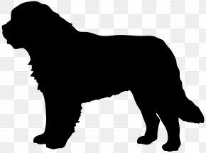 Saint Bernard Dog Silhouette Clip Art Image - St. Bernard Great Dane Dobermann German Shepherd Clip Art PNG