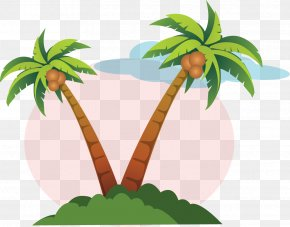 Coconut Tree - Layers Clip Art PNG