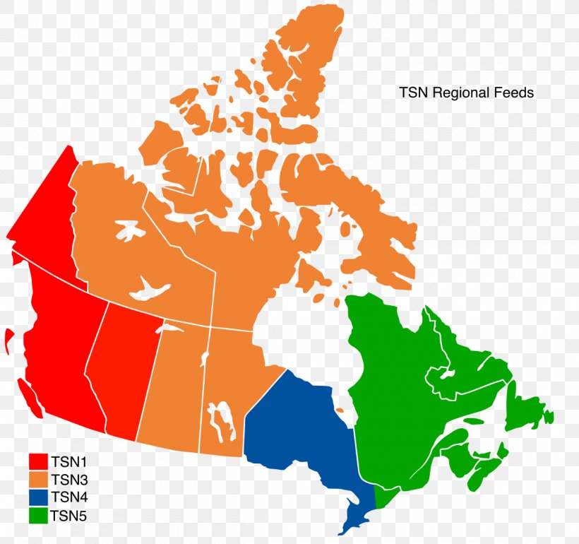 The Sports Network Canada Regional Sports Network Map, PNG ...