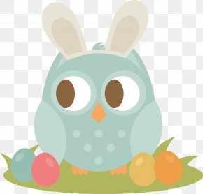 Easter Bunny - Easter Bunny Owl Clip Art PNG