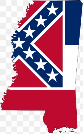 Mississippi Flag - Flag Of Mississippi Flag Of The United States Map PNG