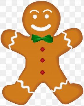 Christmas Gingerbread Clip Art Image - Santa Claus Christmas Gift Clip Art PNG