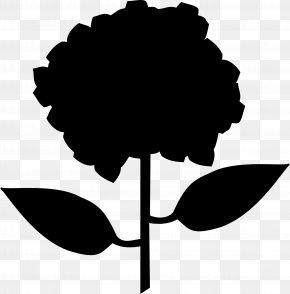 M Leaf Silhouette Plant Stem - Clip Art Black & White PNG