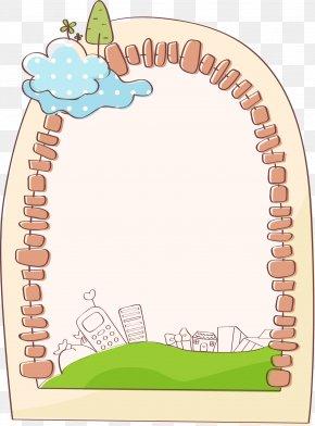 Oval Brick Border - Cartoon Clip Art PNG