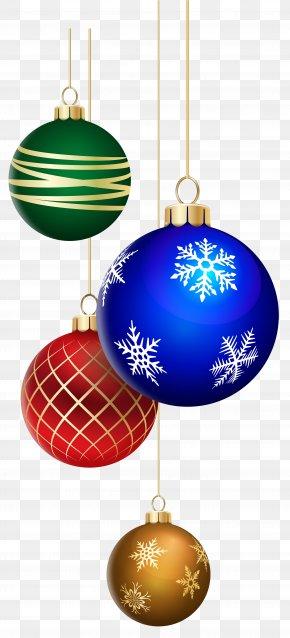 Christmas Balls Decorating Clip Art Image - Christmas Ornament PNG