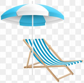 Beach Chair And Umbrella Clip Art Transparent Image - Chair Umbrella Beach Table Strandkorb PNG