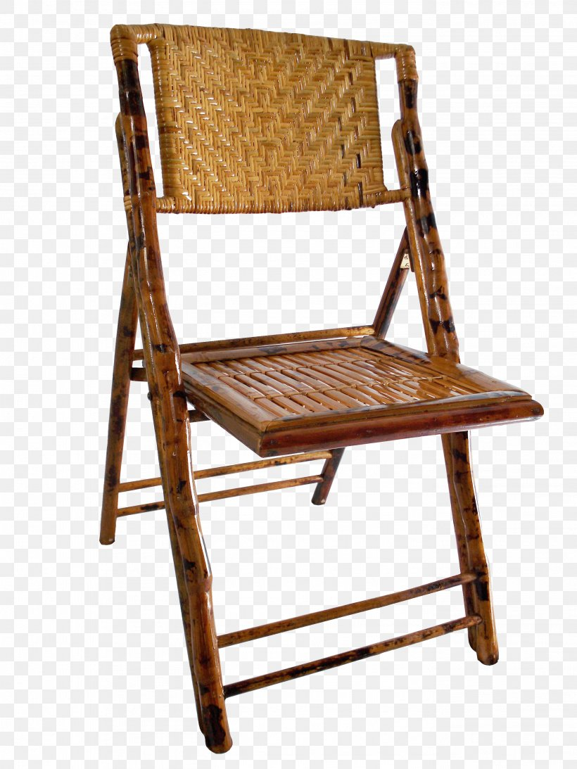 Folding Chair Furniture Bamboo Wicker Png 2736x3648px
