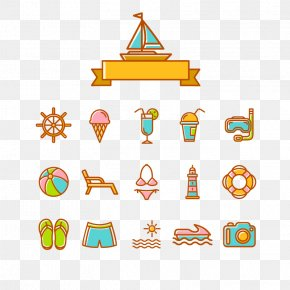 Vector Beach Resort Element - Summer Download Icon PNG
