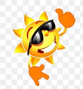 Sun With Sunglasses - Sunglasses Cartoon PNG