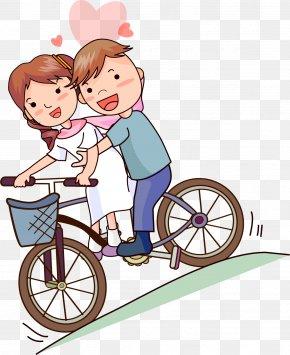 Love Between Men And Women - Cartoon Romance Clip Art PNG
