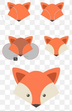 Draw A Small Fox Step - Adobe Illustrator Drawing Tutorial Shape PNG