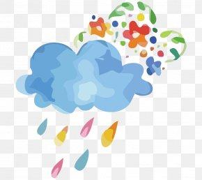Vector Rain Clouds Creative - Rain Clip Art PNG