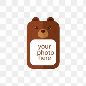 Brown Bear Photo Box - Brown Bear PNG