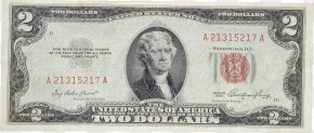 Money Image - United States Two-dollar Bill Banknote United States One-dollar Bill United States Note Silver Certificate PNG