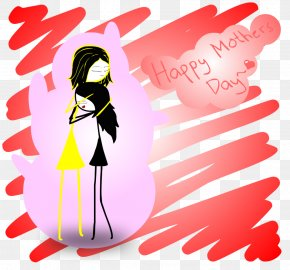 HAPPY MOTHERS DAY - Graphic Design Cartoon PNG