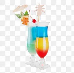 Liqueur Tequila Sunrise - Rainbow Watercolor PNG