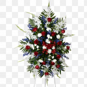 Blue Spray - Funeral Home Flower Cemetery Condolences PNG