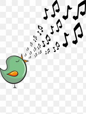 Vector Cartoon Bird Cute Musical Note - Musical Note Download Cartoon PNG